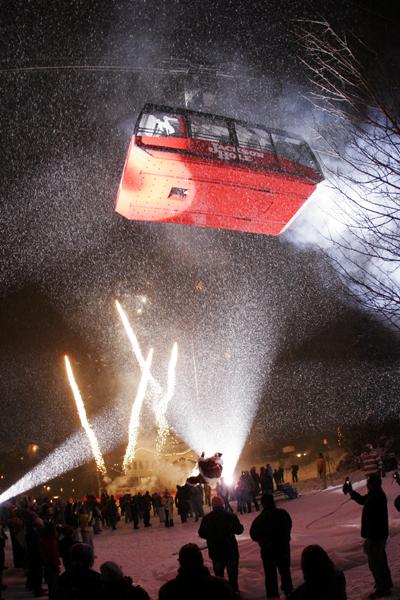 Tram opening celebration